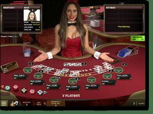Blackjack Playboy Bunny 300x224 آموزش بازی بلک جک یا بیست و یک