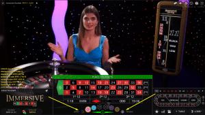 roulette 2 1 300x169 آموزش بازی رولت (Roulette)