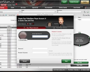 pokerstars frozen acount
